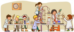 kids in lab